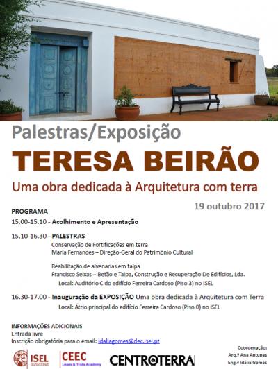 Palestra e Exposição Teresa Beirão – Uma obra dedicada à Arquitectura com Terra